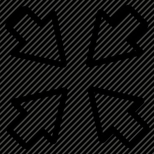 arrow, arrows, line icon
