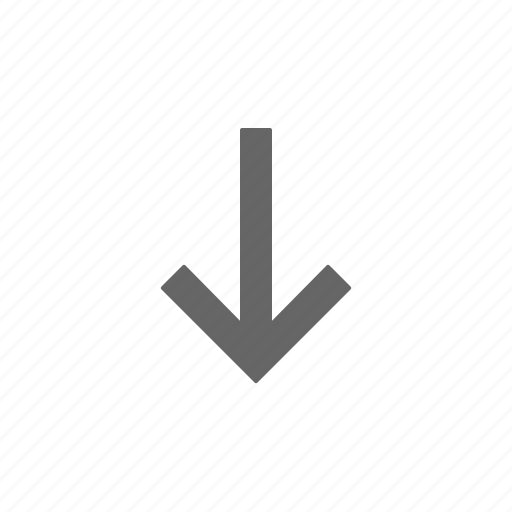 arrow, directional, down icon