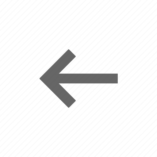 arrow, directional, left, point icon