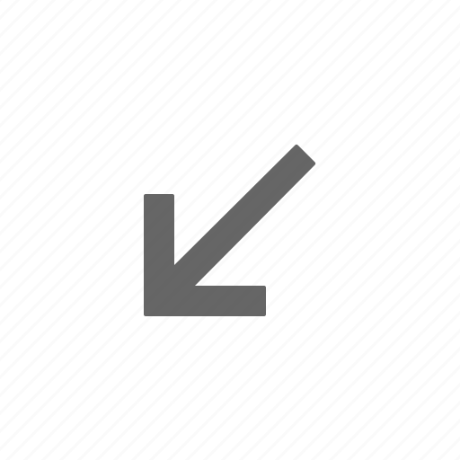 arrow, directional, down, left, point icon