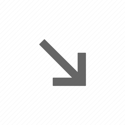 arrow, directional, down, point, right icon