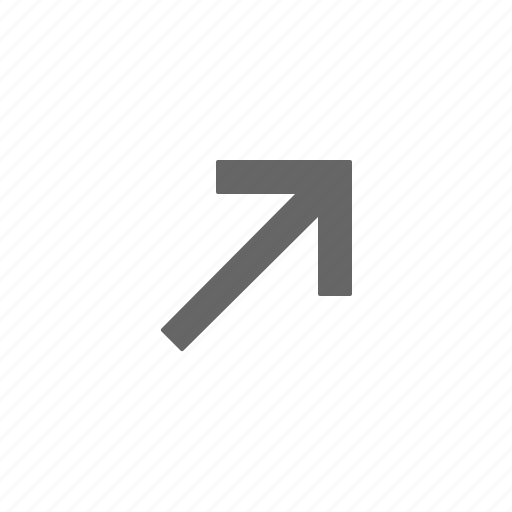 arrow, directional, right, up icon