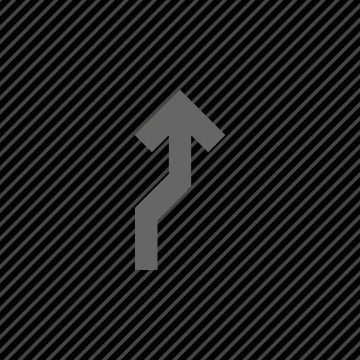 arrow, bend, deviation, direction, divert icon