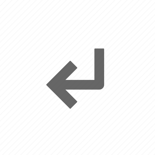directional, down, enter, left icon