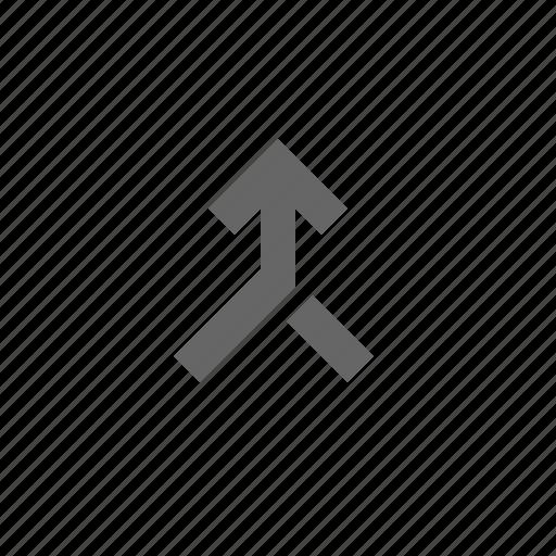 arrow, direction, merge icon