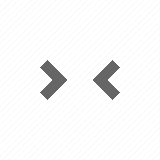 arrows, contract, horizontal, size icon