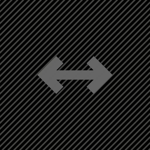 arrow, horizontal, size, span icon