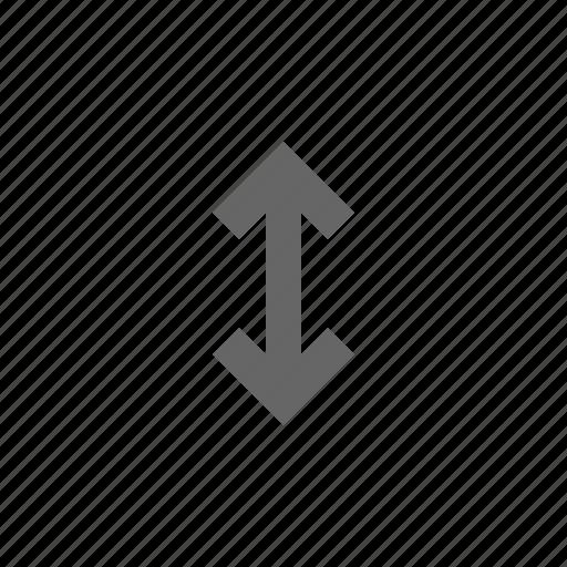 arrow, size, span, vertical icon