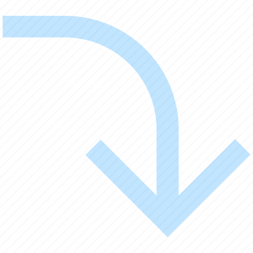 arrow, down, down arrow, download, downloading icon