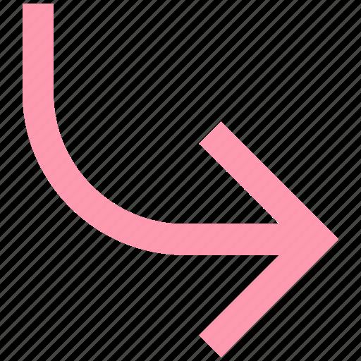 arrow, right, right arrow, top icon