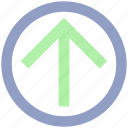 arrow, circle, forward, material, up icon