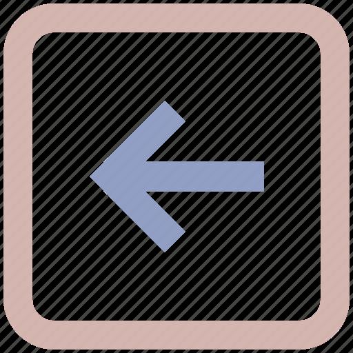 arrow, box, forward, left, left arrow icon