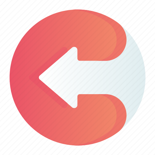 arrow, circle, left, move, pointer icon