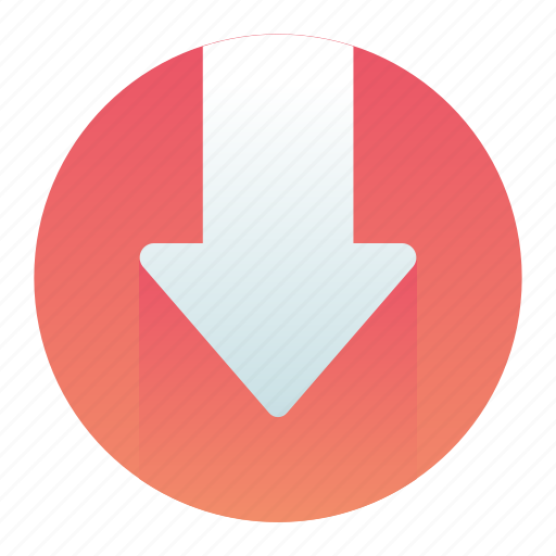 Arrow, circle, down, move, pointer icon - Download on Iconfinder