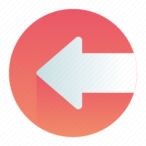 Arrow, circle, left, move, pointer icon - Download on Iconfinder