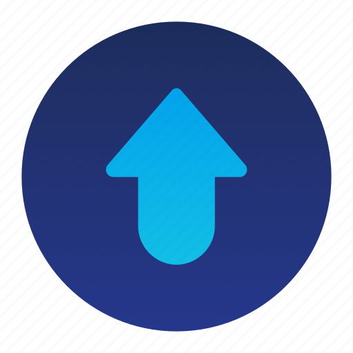 Arrow, circle, move, pointer, up icon - Download on Iconfinder