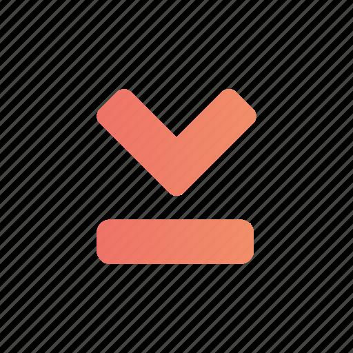 Arrow, down, media, multimedia icon - Download on Iconfinder