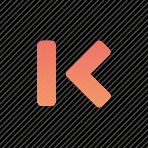 arrow, left, media, multimedia, previous icon
