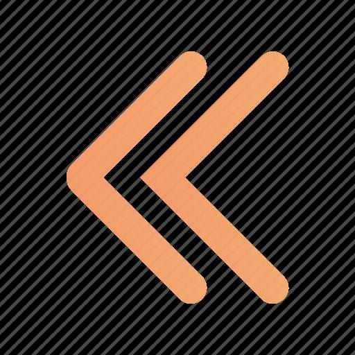 arrow, left, media, multimedia, rewind icon