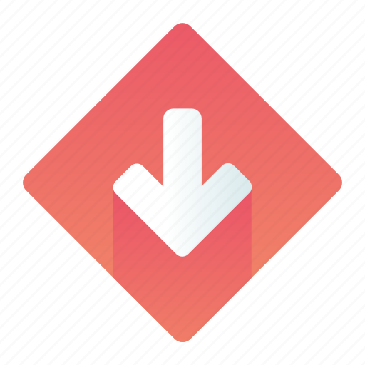 Arrow, down, pointer, sign icon - Download on Iconfinder