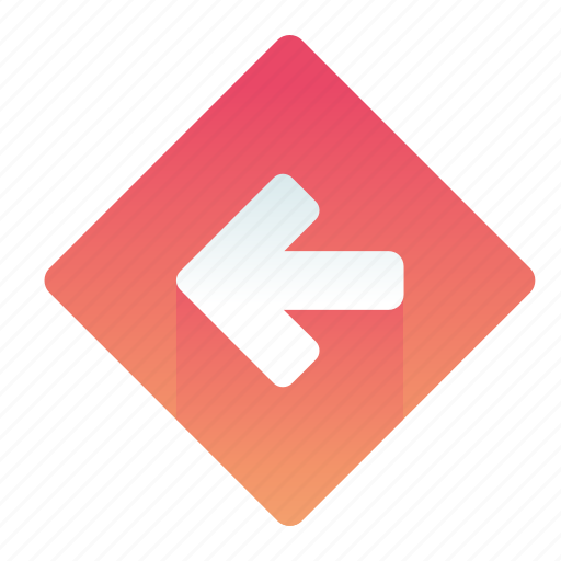 arrow, left, pointer, sign icon