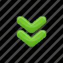 arrows, down, download, download arrow icon