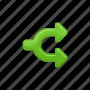 arrows, crossroad, share, sharing icon