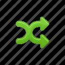 arrows, crossroad, multimedia, shuffle icon