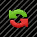 arrows, download, exchange, exchange arrows, upload icon