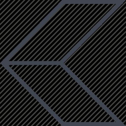 arrow, back, exit, pointer icon