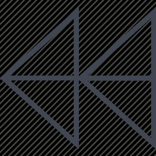 arrow, double, left, point, pointer icon