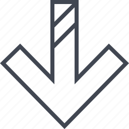 arrow, double, lines, pointer icon