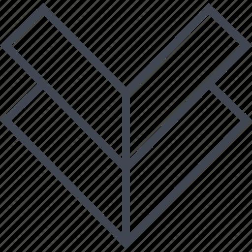 arrows, down, download, sleek icon