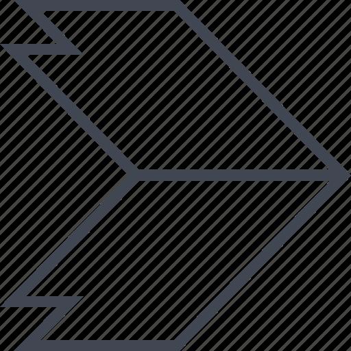 arrow, forward, go, point, pointer icon