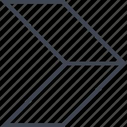 arrow, double, go, next, pointer icon