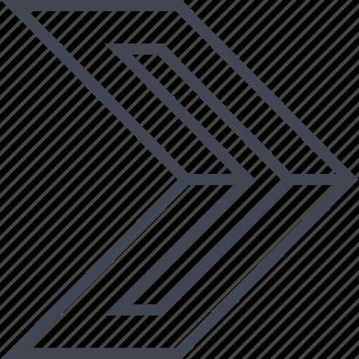 go, next, point, pointer icon