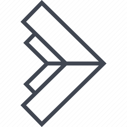 arrow, go, point, pointer, right icon
