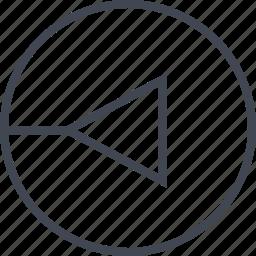 arrow, point, pointer, triangle icon