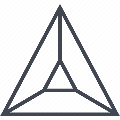 arrow, point, pointer, triangle, up icon
