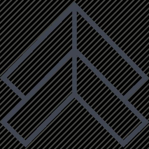 arrows, double, sleek, up icon