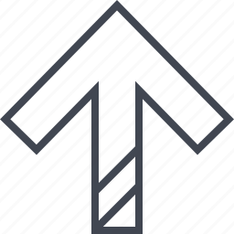 arrow, double, lines, pointer, up icon