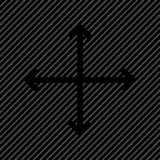 arrow, cross, graduation, intersect icon