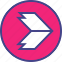 arrow, design, direction, interface, point, ui, user icon