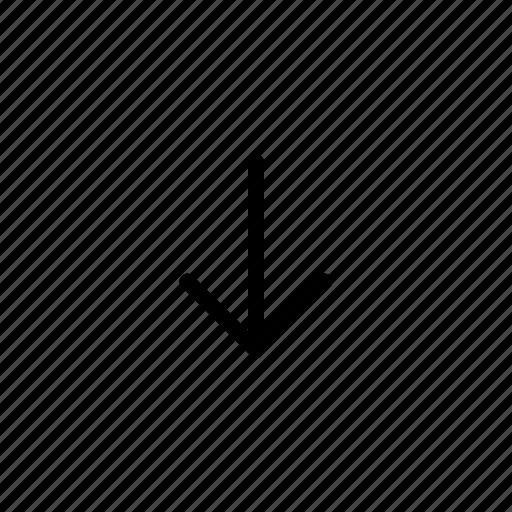 Arrow, arrows, down arrow, down icon icon - Download on Iconfinder