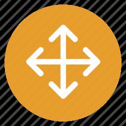 adjust, change, enter, expand, move icon
