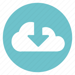 arrow, cloud, download, internet, upload icon