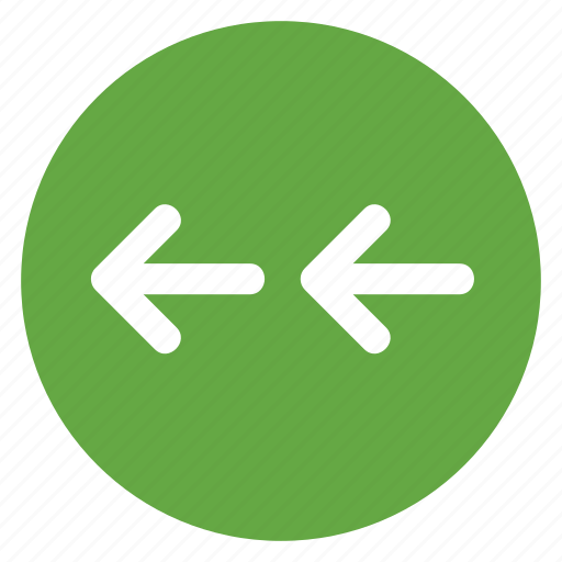 arrow, back, direction, double, left, movement icon