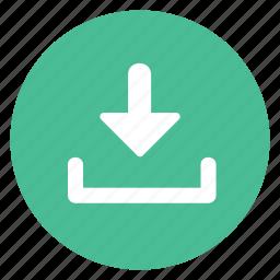 arrow, down, download, enter, insert icon