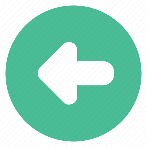 arrow, back, direction, left, sign icon