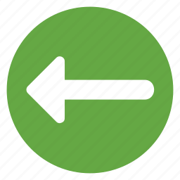 arrow, back, direction, left, sign, street icon